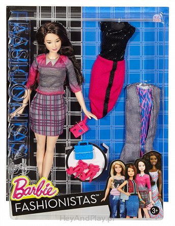 Barbie Fashionistas - Lalka z ubrankami Chic With A Wink