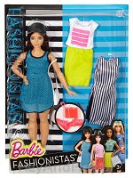 Barbie Fashionistas - Lalka z ubrankami So Sporty, Curvy Dark-Haired