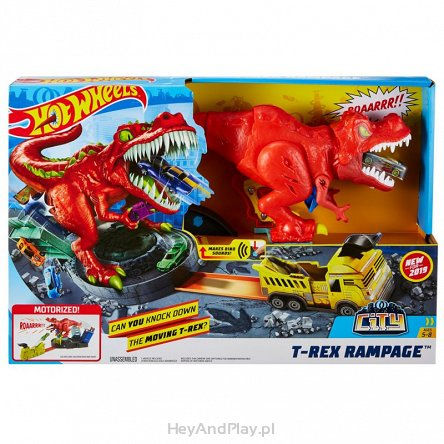 Hot Wheels City Zestaw Atak T-Rexa GFH88