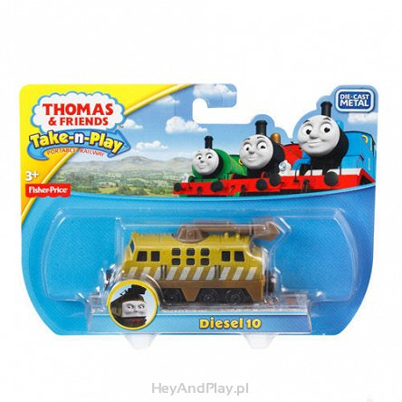Thomas Lokomotywa - Take-n-Play LOKOMOTYWA DIESEL 10 FISHER PRICE