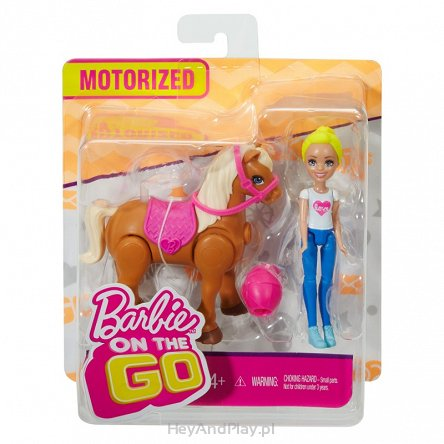 Barbie On The Go Kucyk + Lalka FHV60